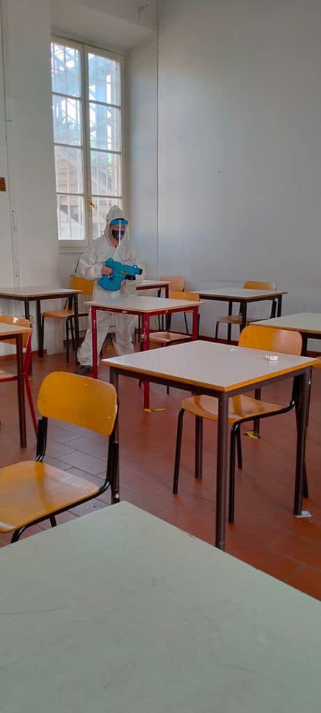 sanificazione ambienti scolastici