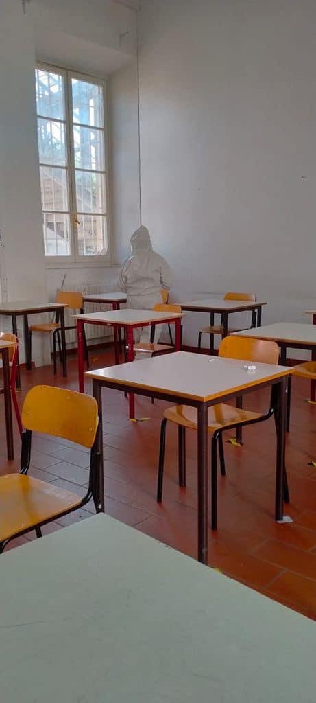 sanificazione aule scolastiche